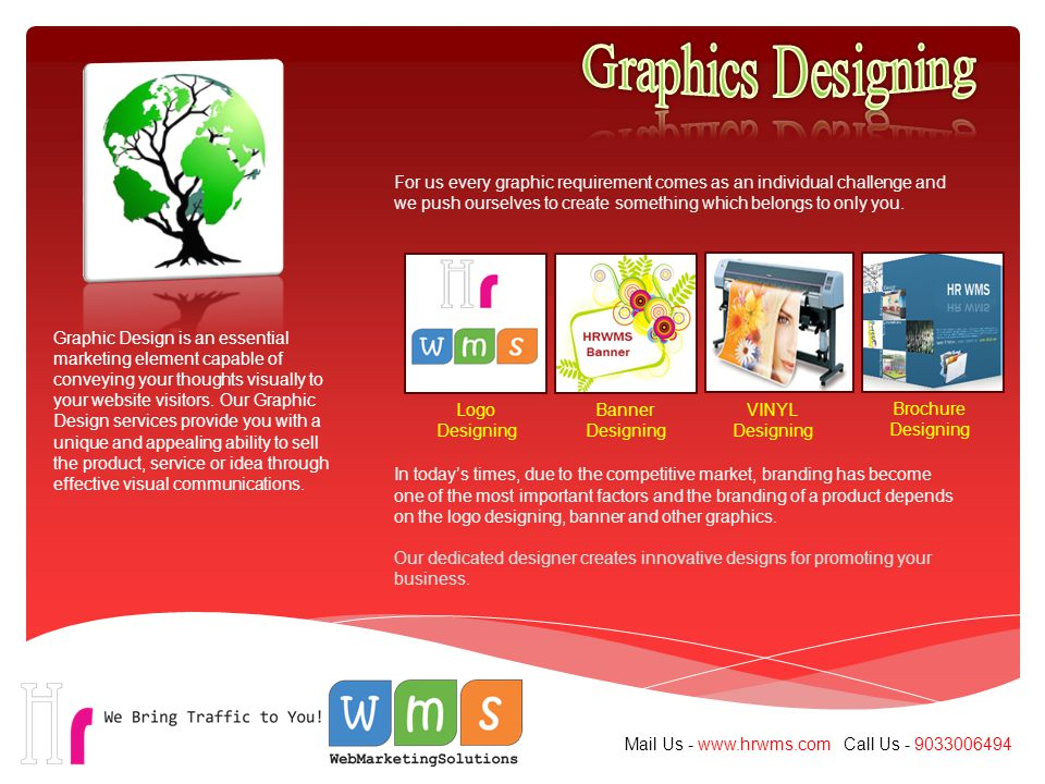 Graphic Design is an essential marketing element capable of conveying your thoughts visually to your website visitors.
