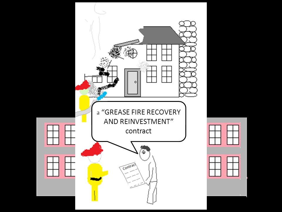 "a ""GREASE FIRE RECOVERY AND REINVESTMENT"" contract"
