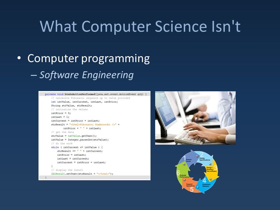 What Computer Science Isn t Computer programming – Software Engineering