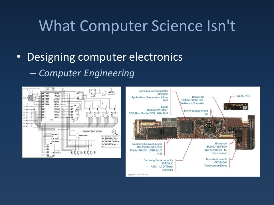 What Computer Science Isn t Designing computer electronics – Computer Engineering