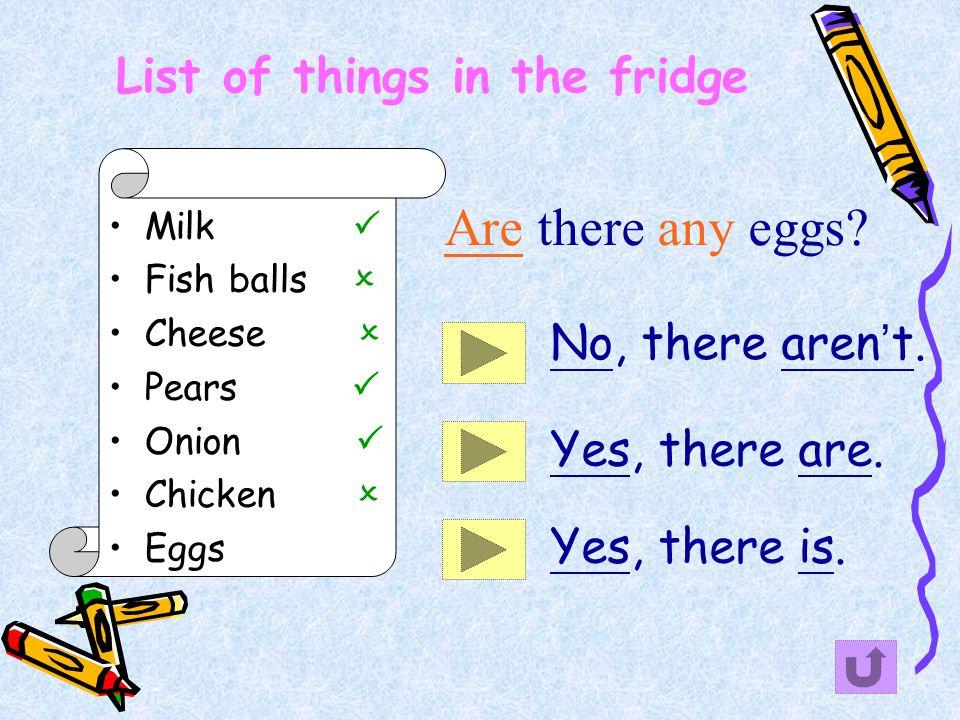 In the fridge An ice cream A fish A coke A cake An onion A pineapple A pear An egg Milk Carrots An apple Lettuce