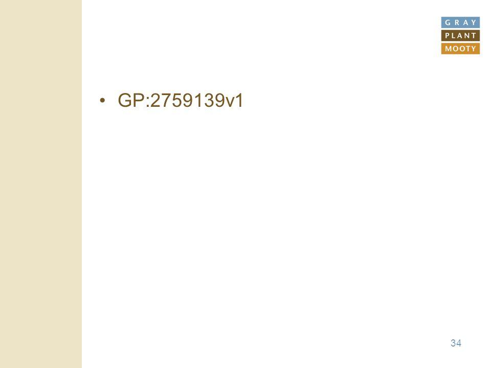 34 GP:2759139v1