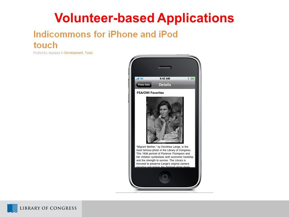 Volunteer-based Applications
