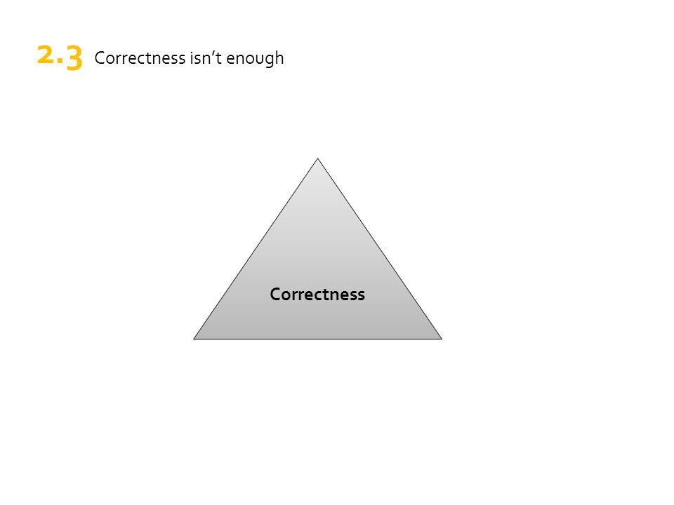 Correctness 2.3 Correctness isn't enough