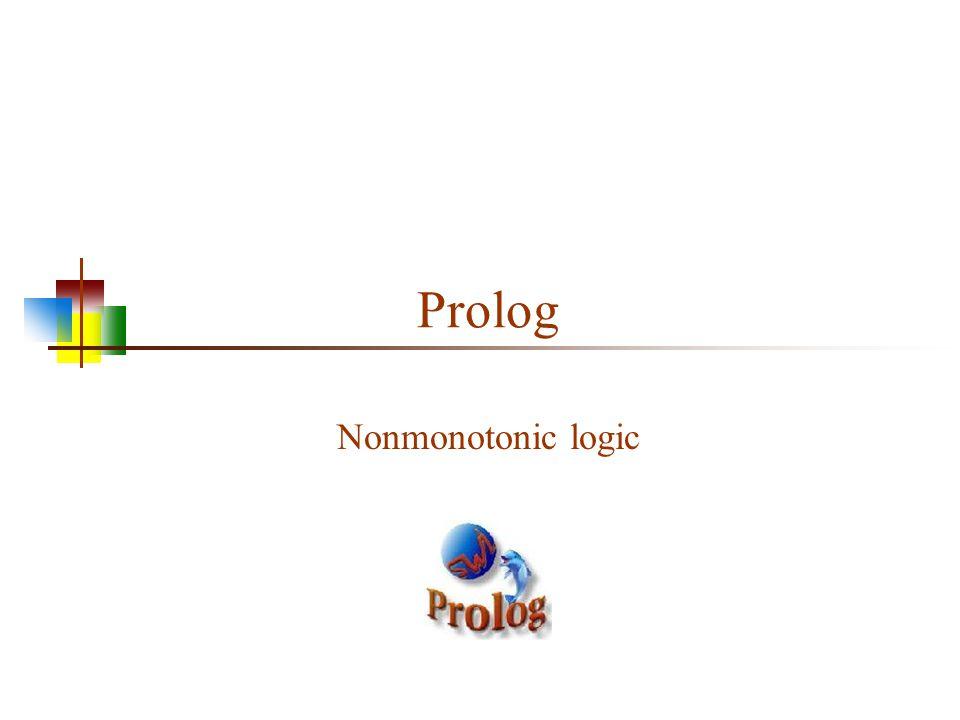 Prolog Nonmonotonic logic