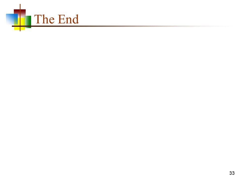 The End 33