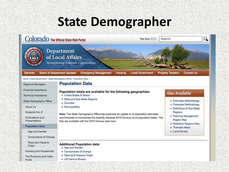 State Demographer