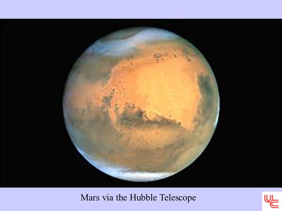 Mars via the Hubble Telescope