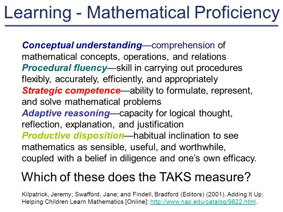 Belief in Diligence and One's Own Efficacy Means – If I work at it, I can learn math.