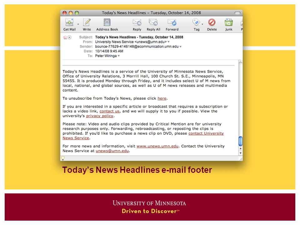 Today's News Headlines  footer