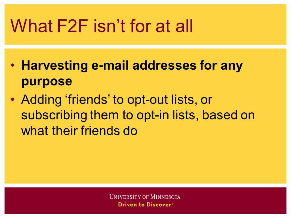 F2F vs.