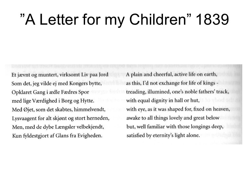 A Letter for my Children 1839
