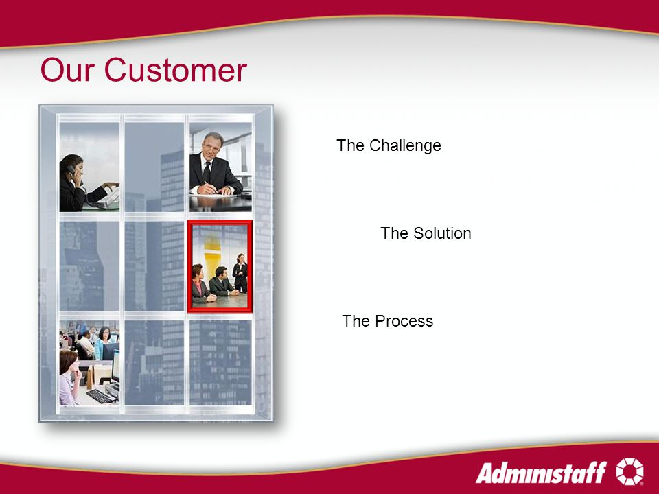 Our Customer The Challenge The Solution The Process