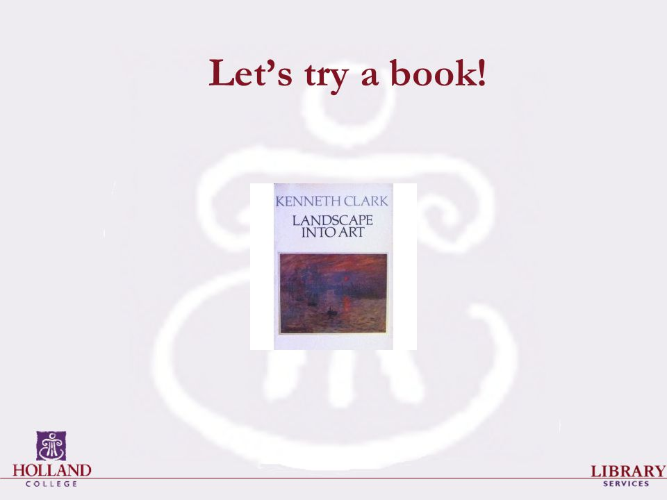 Let's try a book!
