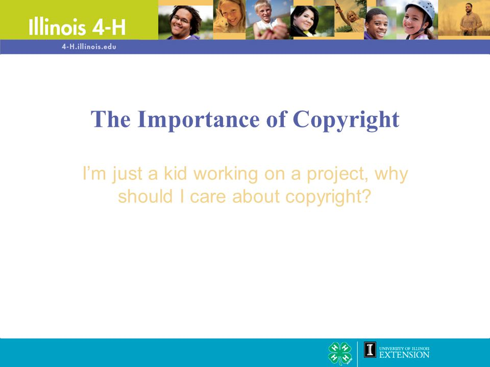 The legal ability of the author/creator of a work to: –Assert ownership of the work –Profit from its use –Protect it from uses that might diminish its value What is copyright?