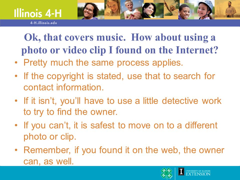Pretty much the same process applies. If the copyright is stated, use that to search for contact information. If it isn't, you'll have to use a little
