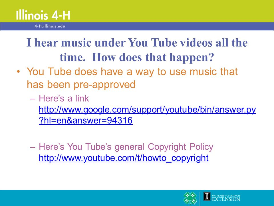 You Tube does have a way to use music that has been pre-approved –Here's a link http://www.google.com/support/youtube/bin/answer.py ?hl=en&answer=9431