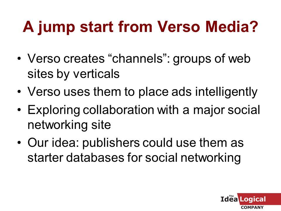 A jump start from Verso Media.