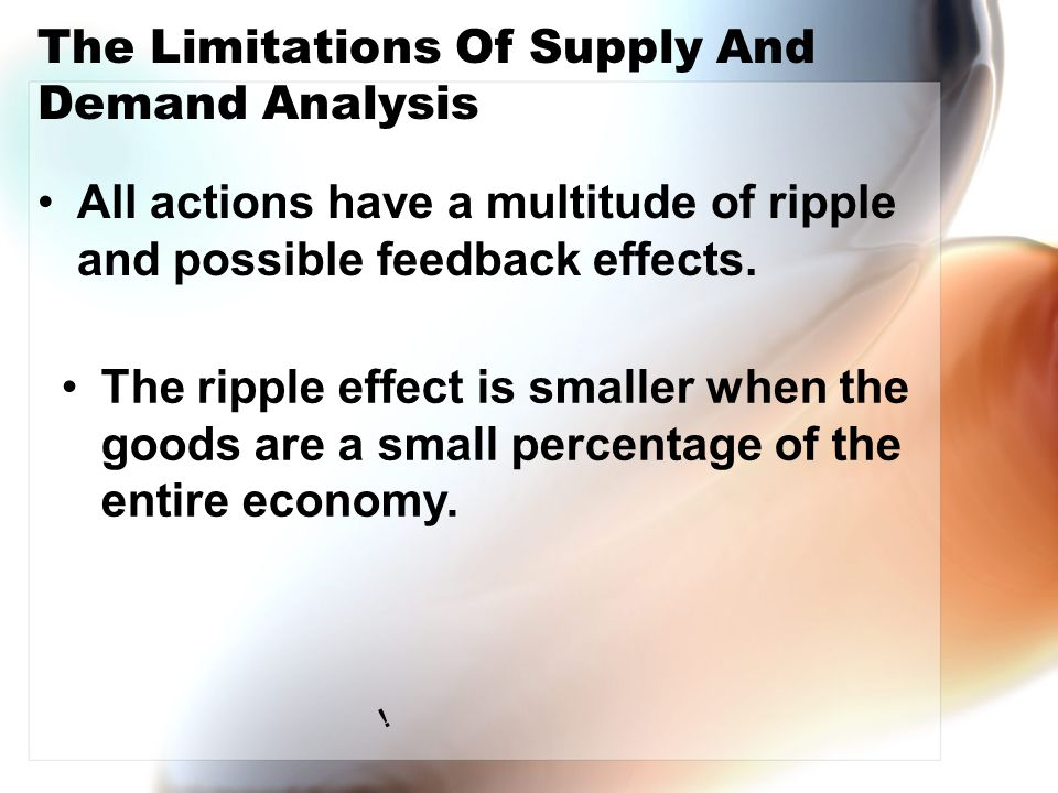 The Limitations Of Supply And Demand Analysis All actions have a multitude of ripple and possible feedback effects.
