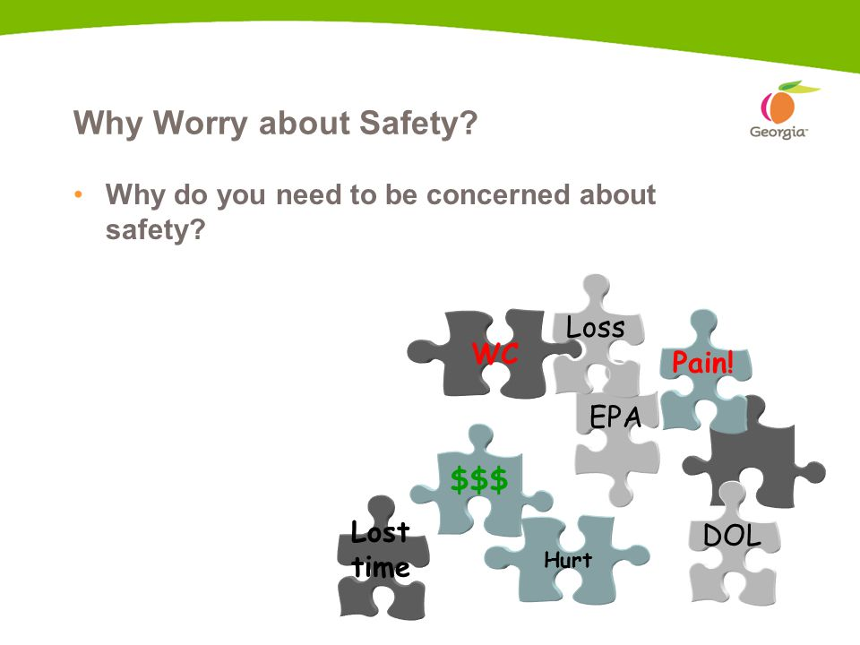 3 Why Worry about Safety. Why do you need to be concerned about safety.