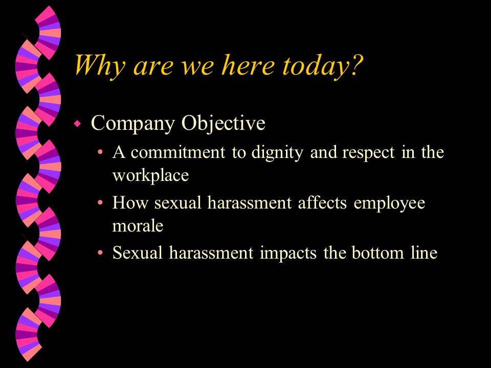 What isn't Sexual Harassment.