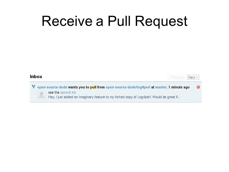 Receive a Pull Request