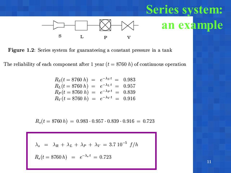 A. BobbioReggio Emilia, June 17-18, 200311 Series system: an example