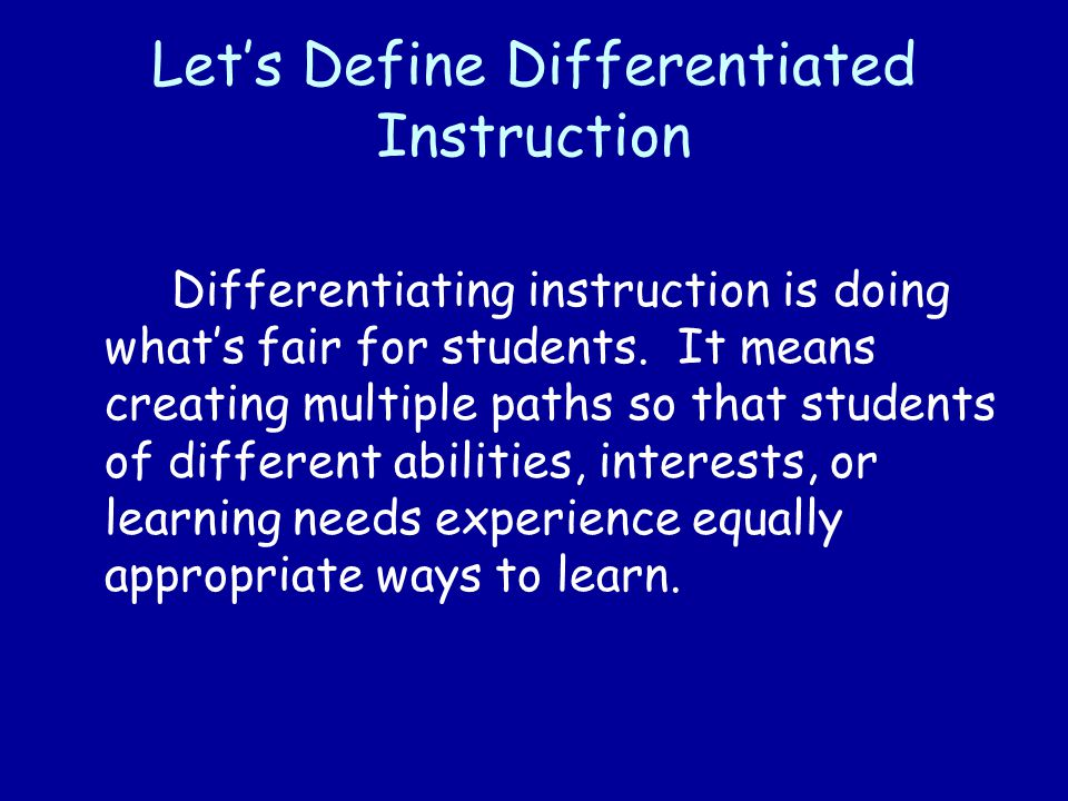 Tiering Instruction 1.Identify the standards, concepts, or generalizations you want the students to learn.