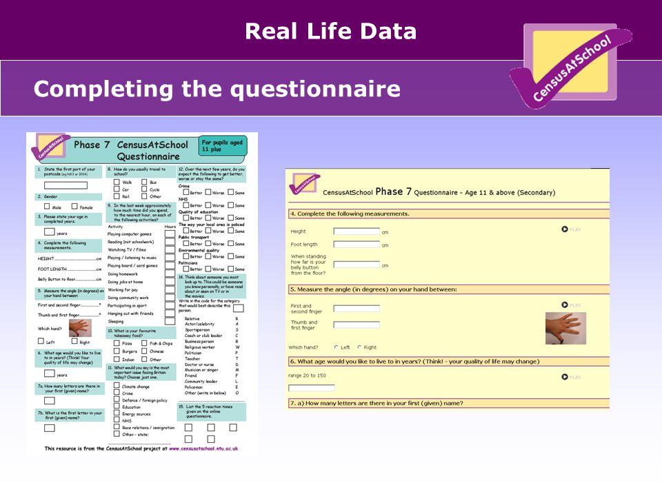 United Kingdom Real Life Data