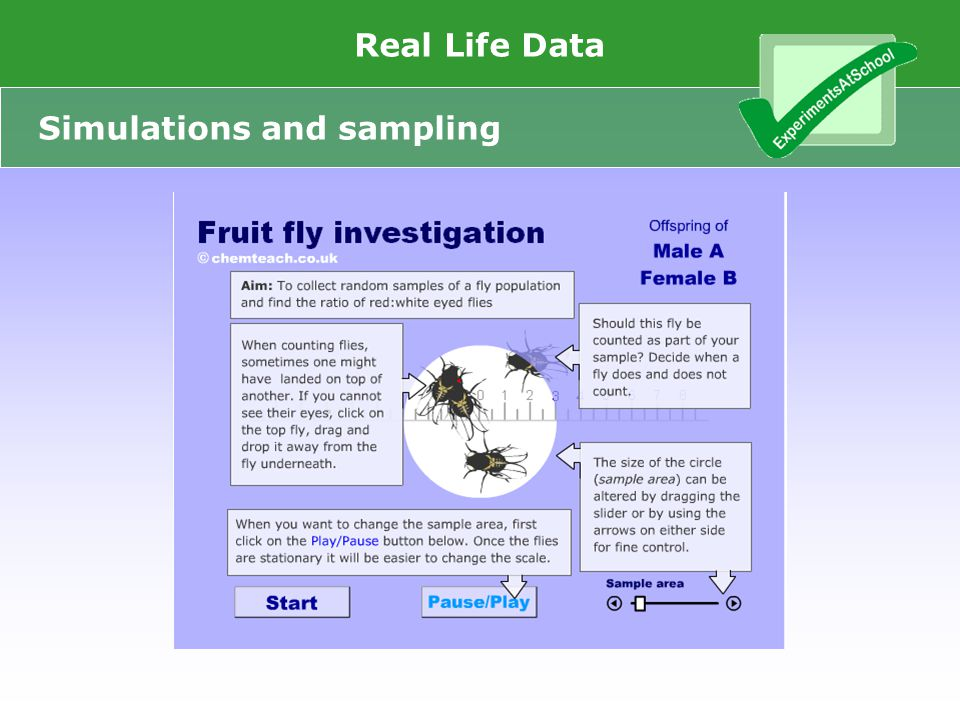 www.Experiments At School.ntu.ac.uk Real Life Data