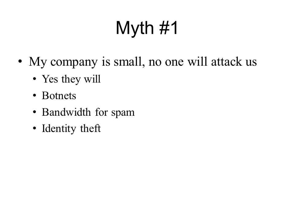 Myth #2 My firewall will protect me No it will not E-mail Ingress vs.
