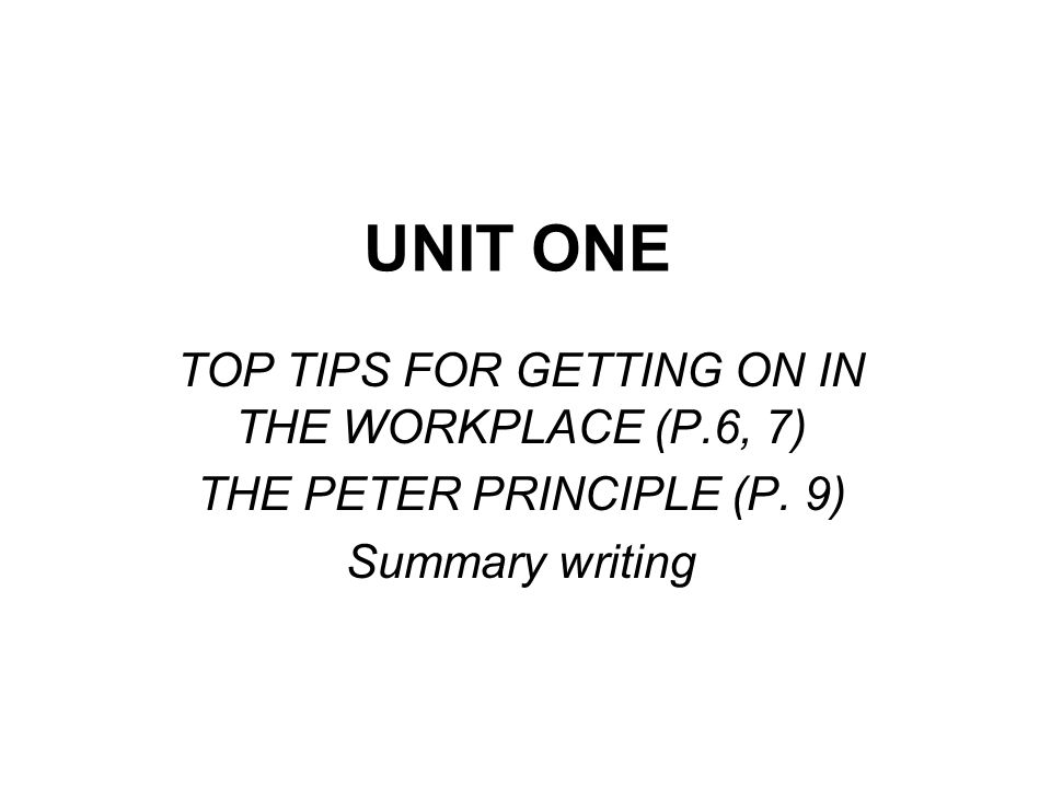 The Peter Principle In a h___________ every employee tends to r_____ to his or her level of i_____________.