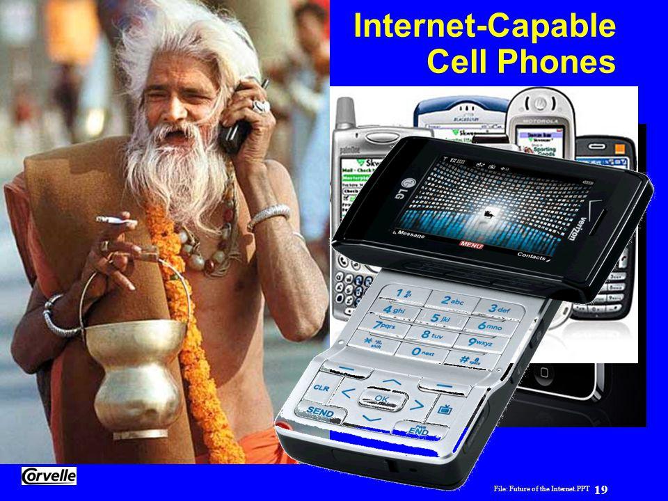 File: Future of the Internet.PPT 19 Yogi Schulz Future of the Internet Internet-Capable Cell Phones
