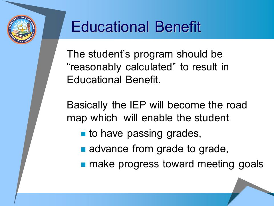 Recording Student Progress  Failure to make progress can be seen as a denial of FAPE  Record and account for any lack of student progress  If a student is not making progress, reconvene an IEP to address this issue  Don't let student progress go undocumented.