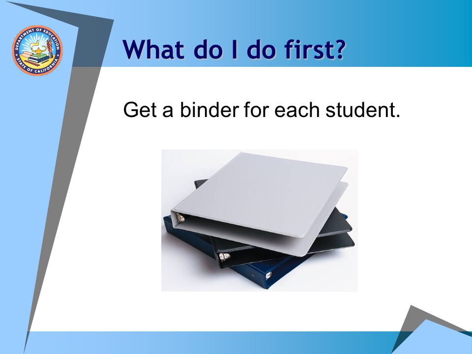 How can I remember all of the steps? Think: GINA'S Binder