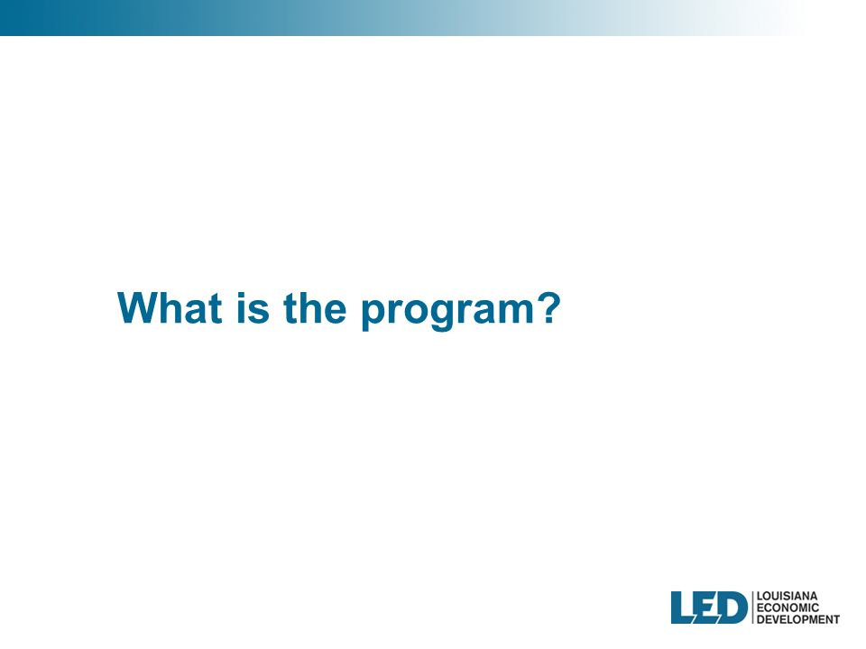 What is the program