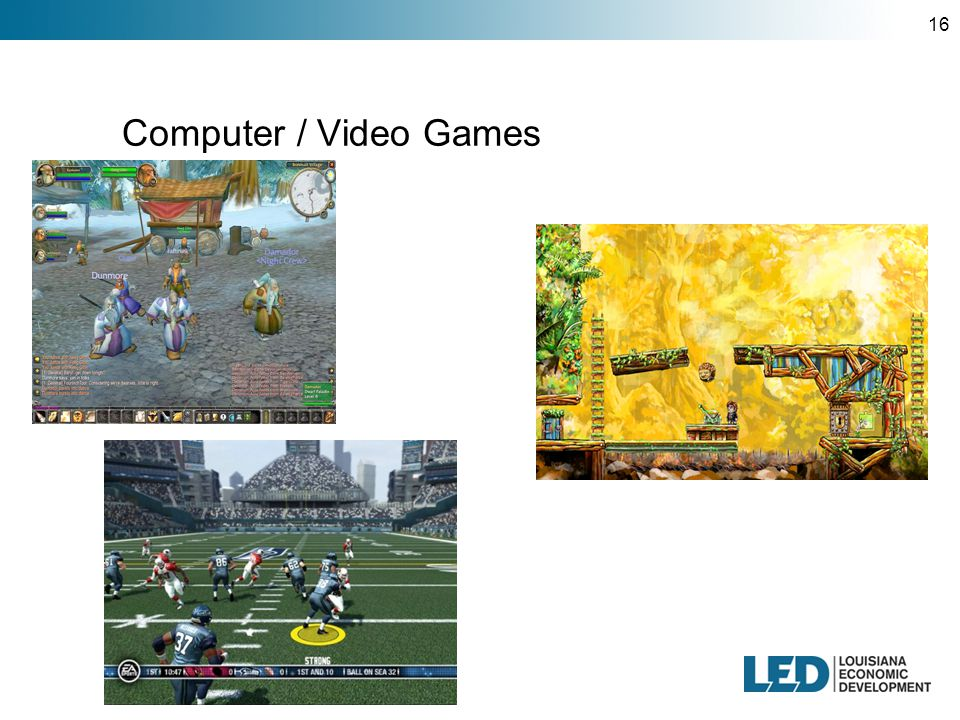 16 Computer / Video Games
