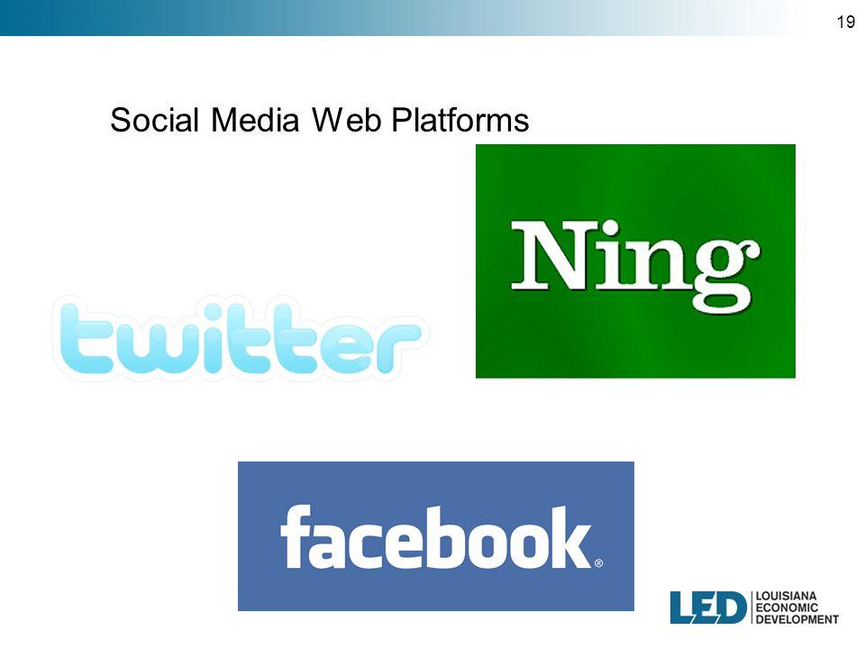 19 Social Media Web Platforms