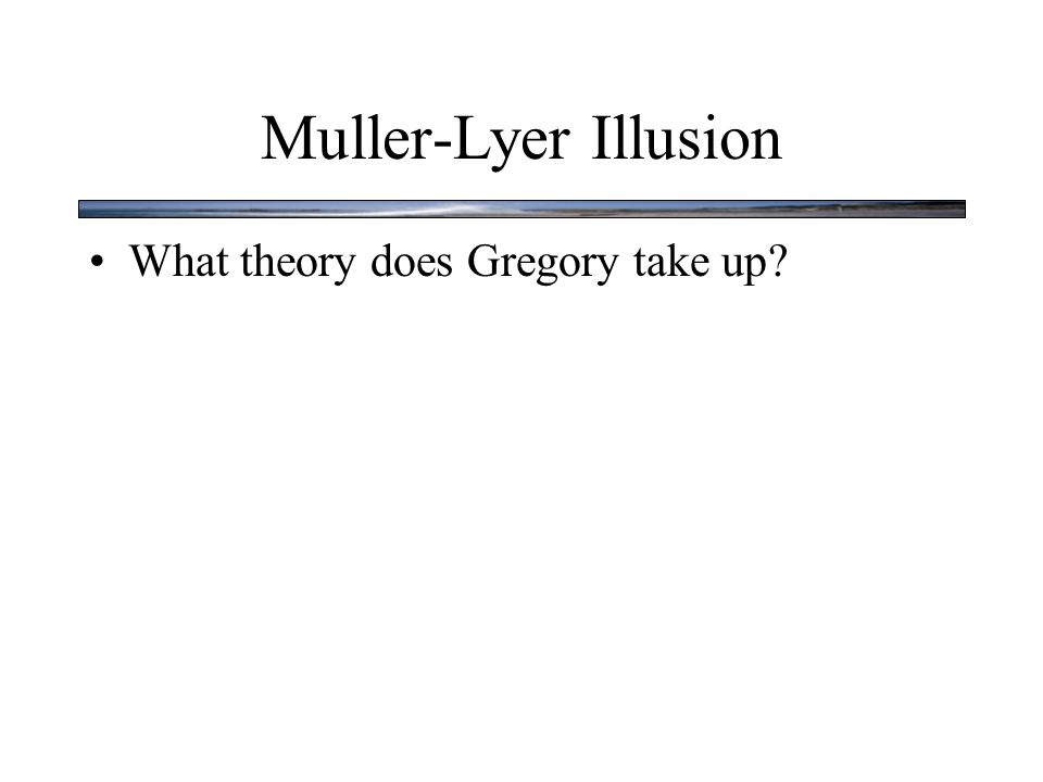 What theory does Gregory take up