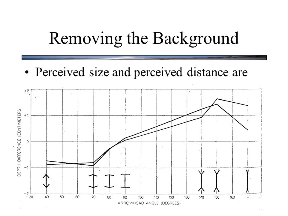 Removing the Background Perceived size and perceived distance are tightly related