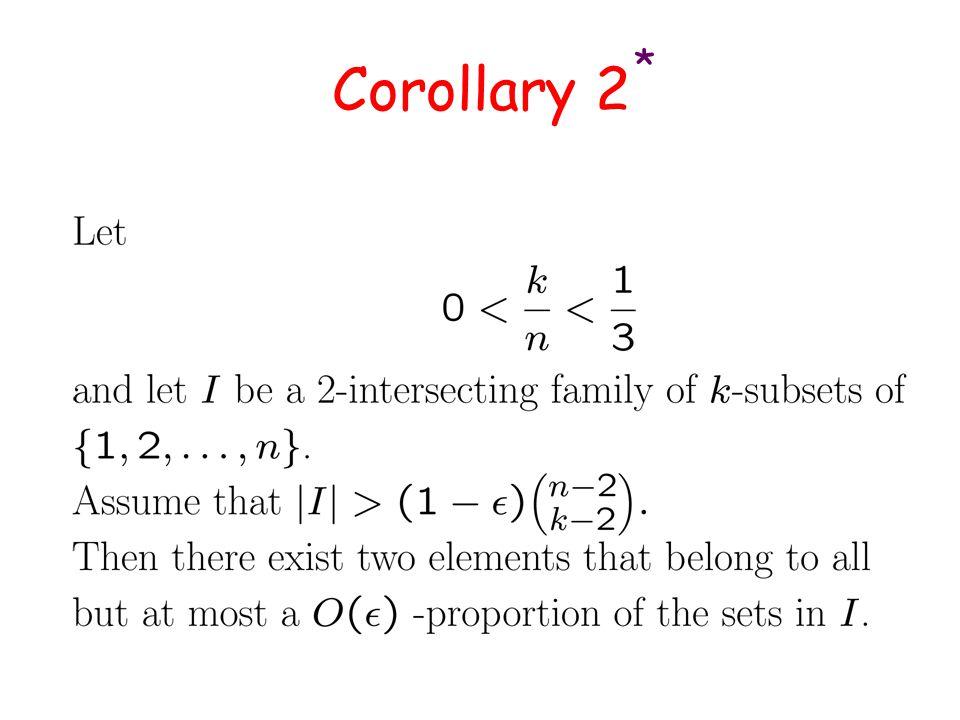 Corollary 2 *