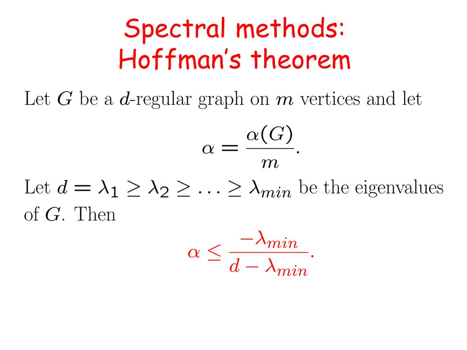 Spectral methods: Hoffman's theorem