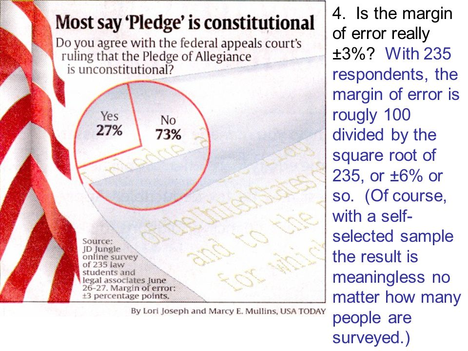 Find four problems with this graphic, which refers to the case that held that use of under God in the Pledge of Allegiance is unconstitutional.