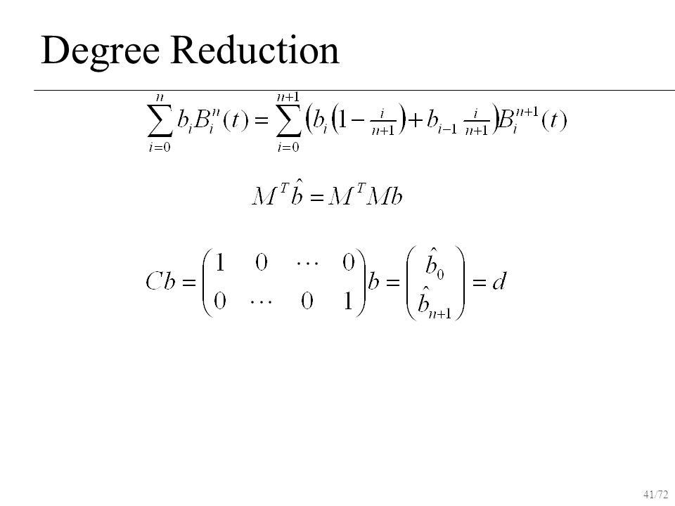 41/72 Degree Reduction