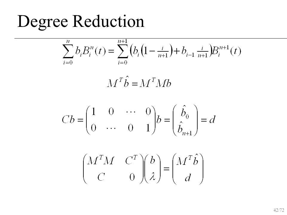 42/72 Degree Reduction