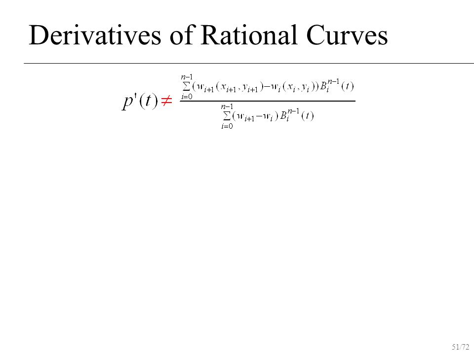 51/72 Derivatives of Rational Curves