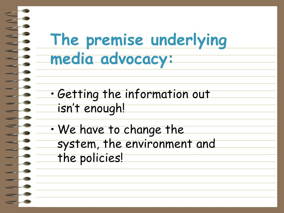 Media advocacy is the use of media to amplify our voices and the voices of our community.