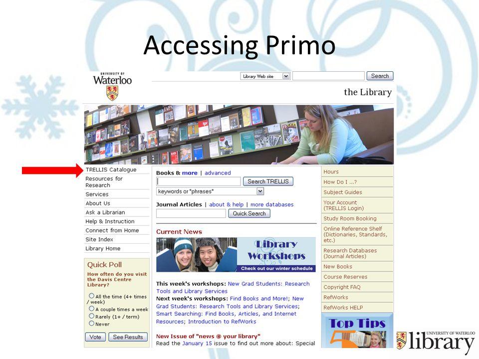 Accessing Primo