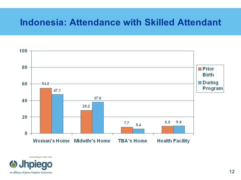 12 Indonesia: Attendance with Skilled Attendant