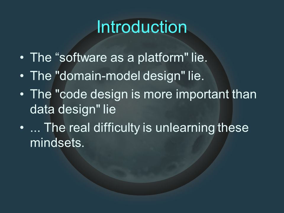 """Introduction The """"software as a platform"""
